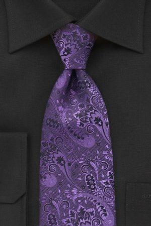 Ultra Violat Woven Paisley Necktie