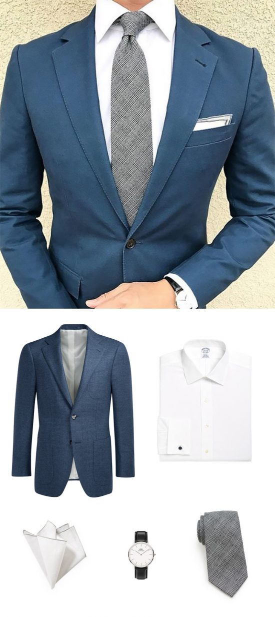 Blue + Gray : Menswear Power Colors