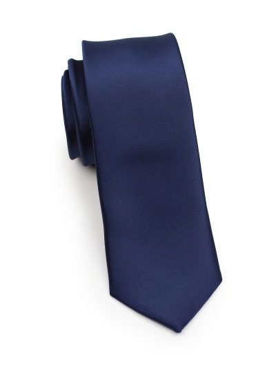Mens Classic Navy Skinny Necktie