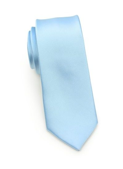Powder Blue Mens Skinny Necktie