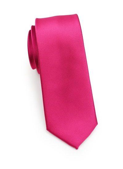 Magenta Pink Mens Skinny Necktie