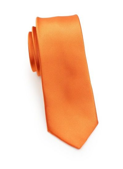 Bright Orange Skinny Tie