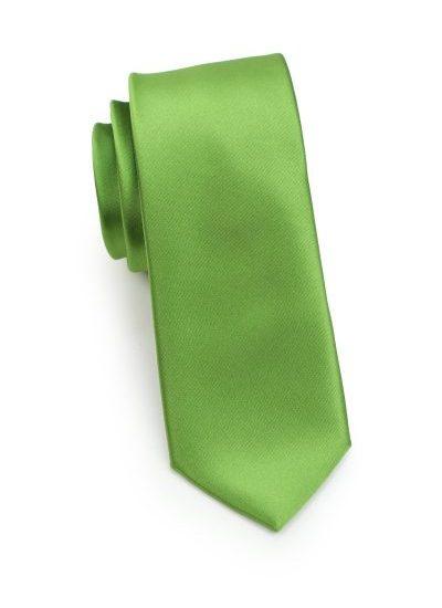 Clover Green Skinny Mens Tie