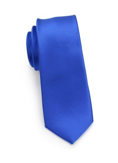 Mens Skinny Tie in Horizon Blue