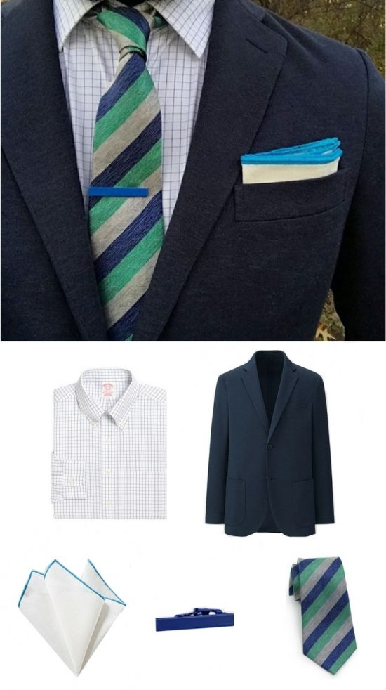 Get The Look - Striped Silk Tie