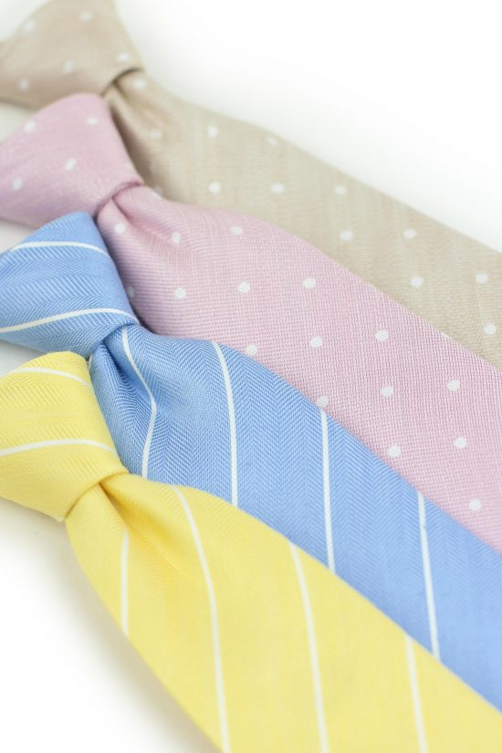 Men's Summer Style - Linen Neckties