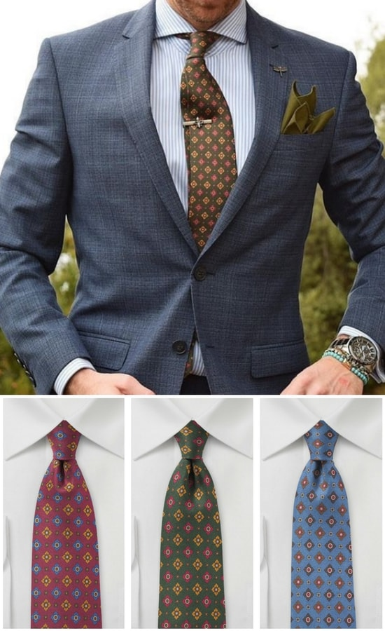 How to Wear Vintage Print Neckties
