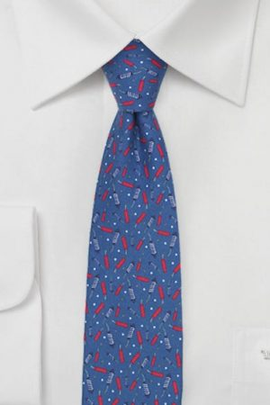 Summer Neckties for Men in Red, White, Blue