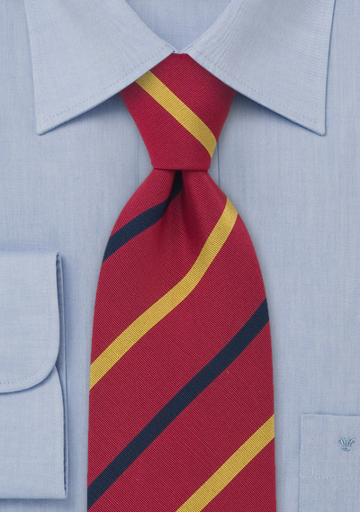 Traditional British Striped Necktie by Atkinsons