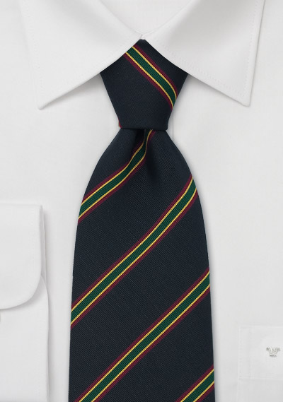 British Repp-Stripe Tie by Atkinsons
