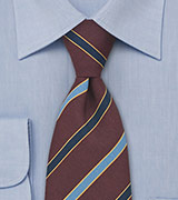 Chestnut Brown Tie by Atkinsons