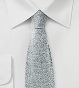 Cashmere Knit Tie in Gray