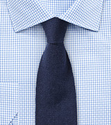 Cashmere Knit Tie in Navy