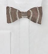 Linen Bow Tie in Walnut