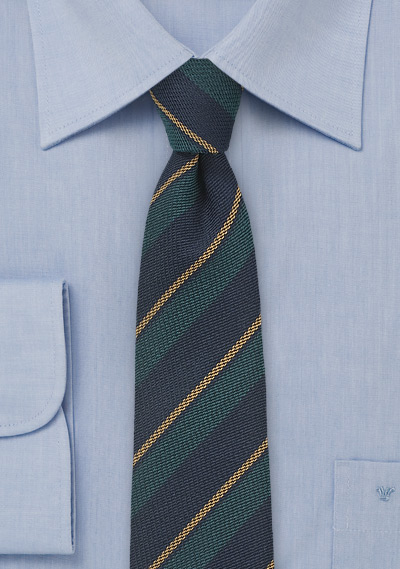 Repp Striped Wool and Silk Tie