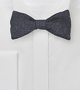 Midnight Blue Glen Check Wool Bow Tie