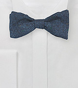 Subtle Glen Check Wool Bow Tie in Indigo