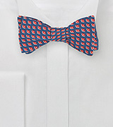 Retro Print Self Tie Bow Tie