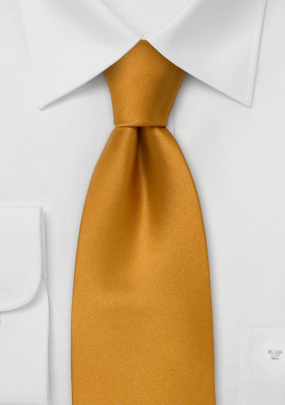 Golden Yellow Silk Tie