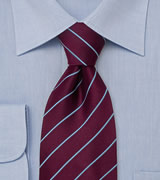Elegant Business Tie  Burgundy/ Purple