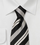 Striped neckties Modern black necktie