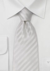 Extra long white tie White necktie made from stain-resistant microfiber