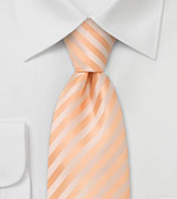 Solid peach color tie<br>Stain resistant Microfiber necktie in peach-orange
