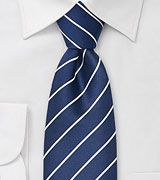 Marine Blue Striped Tie