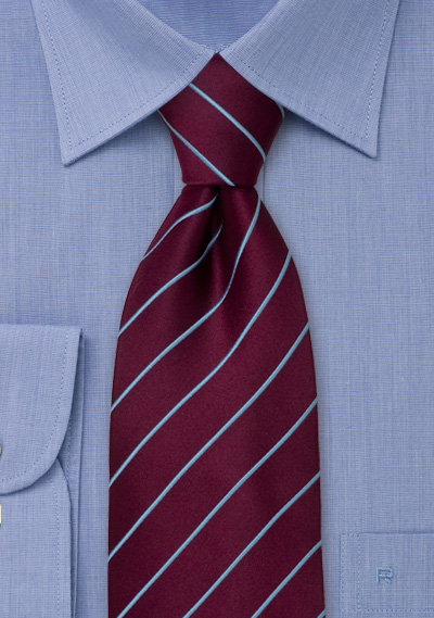 Striped Neckties<br>Purple necktie