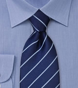 Blue Silk Ties Navy blue striped necktie