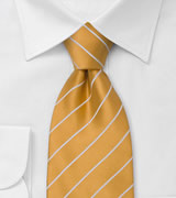 Striped Ties Orange tie with white stripes