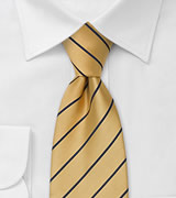 Striped men\'s ties<br>Yellow and blue necktie