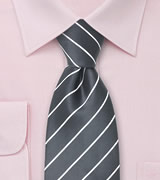 Classic Neckties Taupe gray men's tie