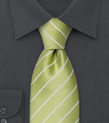 Green neckties Striped, lime green necktie