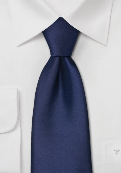 Extra long ties<br>Sapphire blue XL necktie