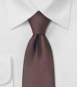 Solid color ties Coffe brown necktie