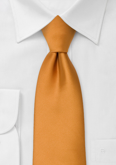 Solid color ties<br>Copper-orange necktie