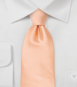 Solid Apricot-Orange Tie in XL