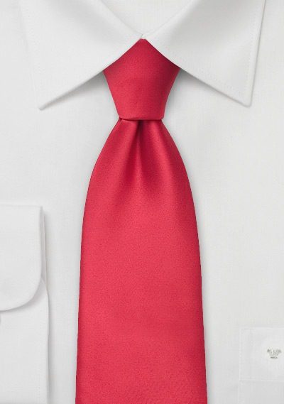 Solid color mens ties<br>Bright red men\'s necktie