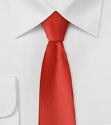 Bright Red Skinny Tie