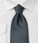 Smoke-Gray Necktie in XL Length