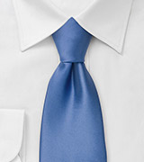 Clip-on ties Solid blue clip on tie