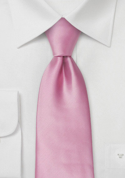Pink men\'s ties<br>Solid color pink tie