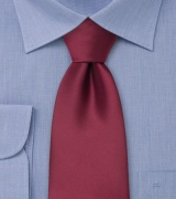 Clip on ties Burgundy red clip on tie