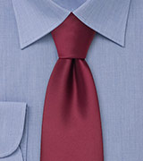 Extra Long Ties Burgundy red XL necktie
