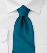 Peacock Teal Colored Clip on Tie