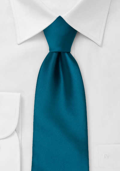 Solid color ties<br>Turquoise  blue necktie