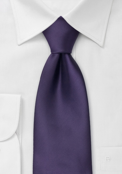 solid purple necktie in xl length