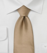 Light Brown Necktie in XL