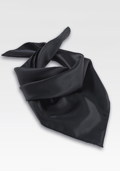 Solid Black Womens Scarf